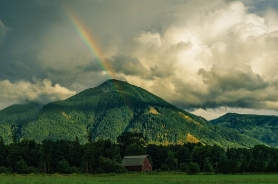 <绚丽唯美的彩虹风景桌面壁纸