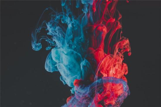 五颜六色的烟雾高清桌面壁纸