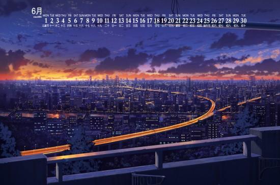 2020年6月唯美动漫风景日历壁纸