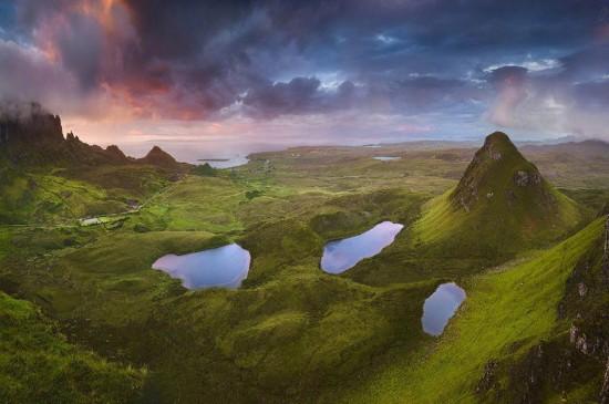 苏格兰天空岛清新风景桌