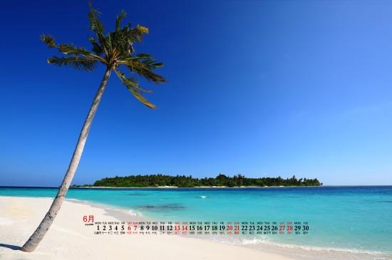 2020年6月大海沙滩蓝色