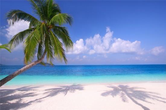 <海边沙滩风景高清桌面壁纸