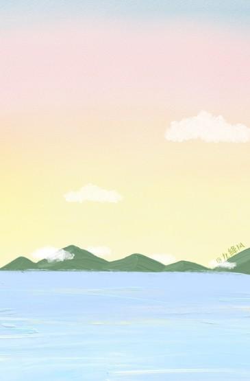 <油画风景小清新手机壁纸