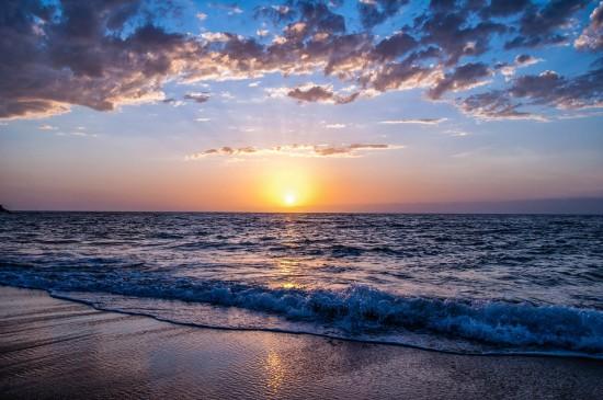静谧唯美海滩风景图片桌