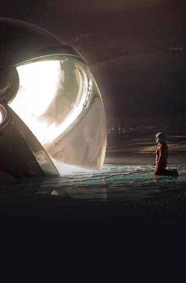 <孤独太空人创意高清手机壁纸