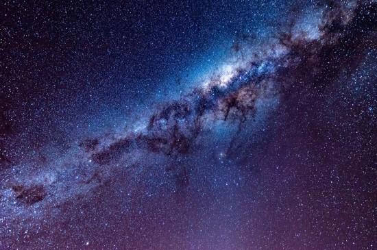 <夜晚的灿烂星空高清桌面壁纸