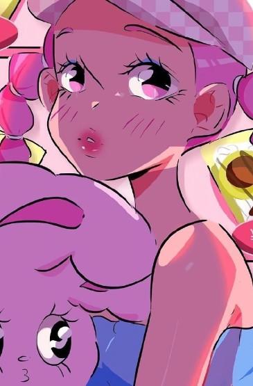 个性卡通女生手绘高清手机壁纸
