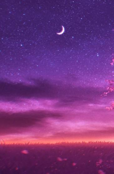 唯美小清新风景插画高清手机壁纸