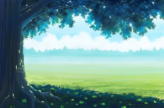 唯美养眼动漫风景桌面壁纸