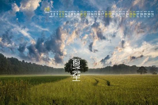 2020年7月二十四节气夏至高清日历壁纸