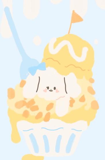 小动物の夏日手绘手机壁