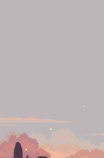唯美像素风风景插画手机壁纸