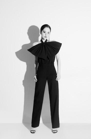 古力娜扎法式丝巾马尾写真图片