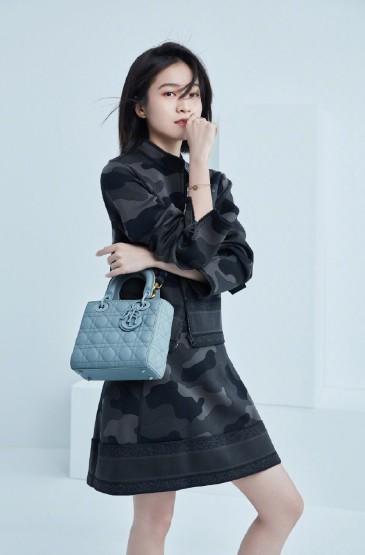 张雪迎迷彩裙时尚写真图