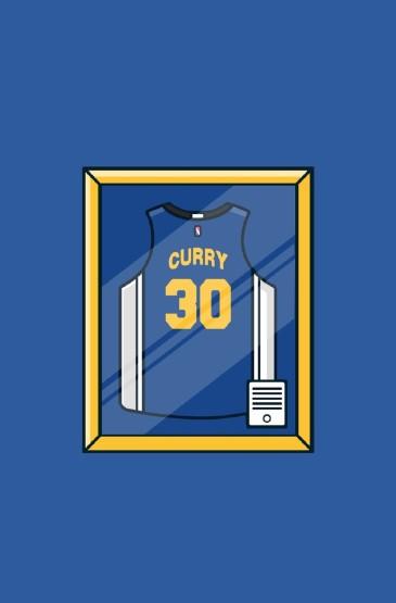 NBA球星球衣手绘高清手