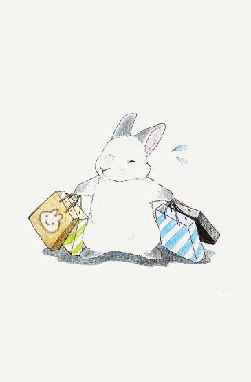 治愈小兔纸萌系可爱手机