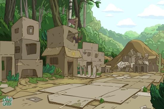 小溪仔克雷格动漫风景桌面壁纸