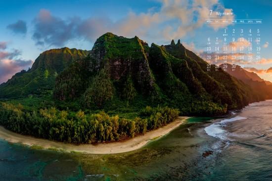 2020年7月唯美壮观自然风景日历壁纸
