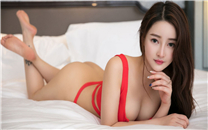 <性感美女红色内衣诱惑写真桌面壁纸
