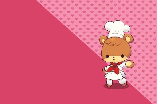 <萌趣卡通《小熊料理》五彩桌面壁纸