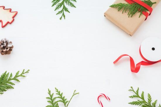 圣诞装饰清新简洁电脑壁纸