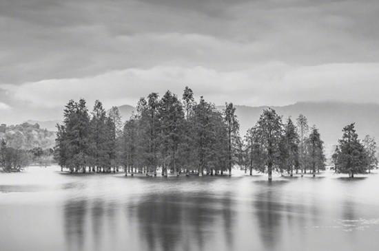 唯美朦胧黑白风景图片iPad平板壁纸
