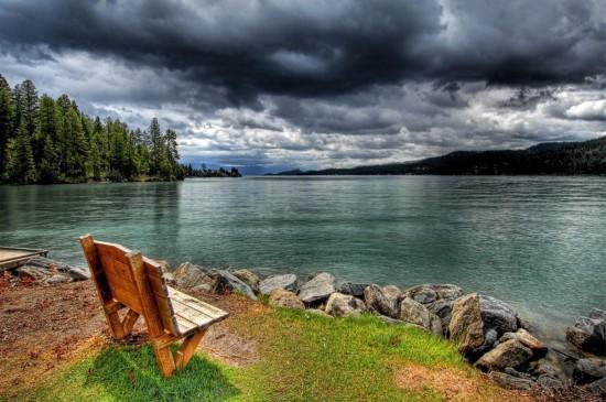 夕阳下的唯美风光高清桌面壁纸