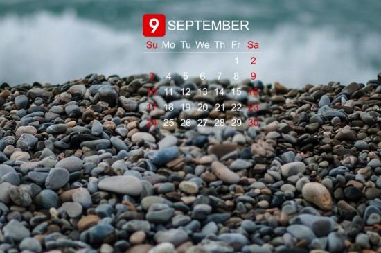 2017年9月日历ipad壁纸下载