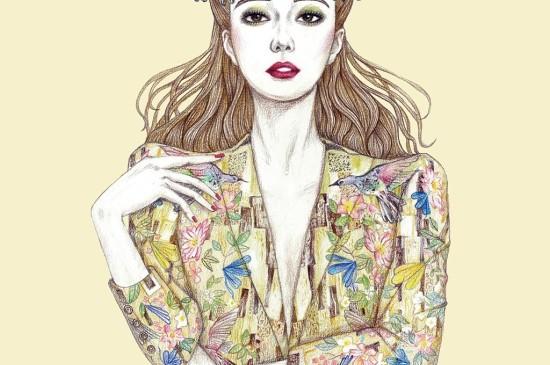 創意美女十二星座插畫ipad壁紙