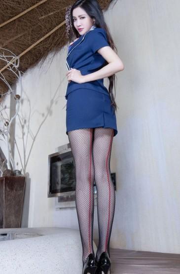 <空姐制服美女長腿絲襪寫真高清手機壁紙大全