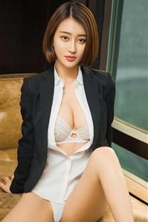 <火辣短发美女职业装制服诱惑手机壁纸