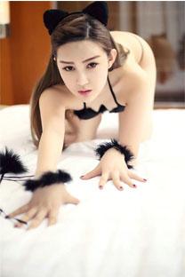 貓女郎性感丁字褲撩人寫真高清手機壁紙