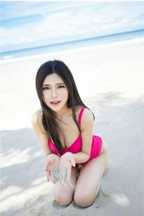 <大胸美女沙滩性感内衣写真手机壁纸下载