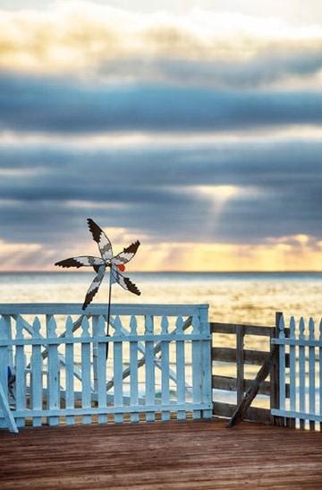 小清新浪漫夏日海邊風光