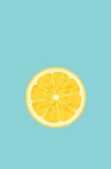 夏日小清新柠檬手机锁屏