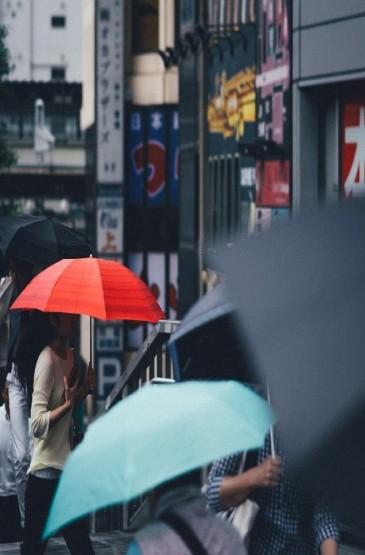 <日本街頭雨季唯美手機壁紙