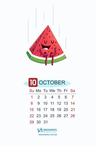 2017年十月日历苹果手机