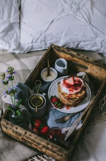 唯美早餐美食靜物攝影手機壁紙