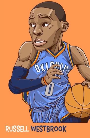 NBA籃球明星Q版漫畫手機壁紙