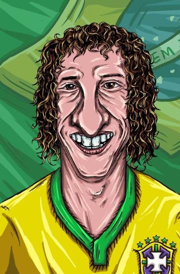 2014世界杯球員教練漫畫