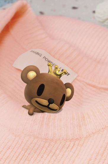 韩国可爱皇冠小熊手机壁