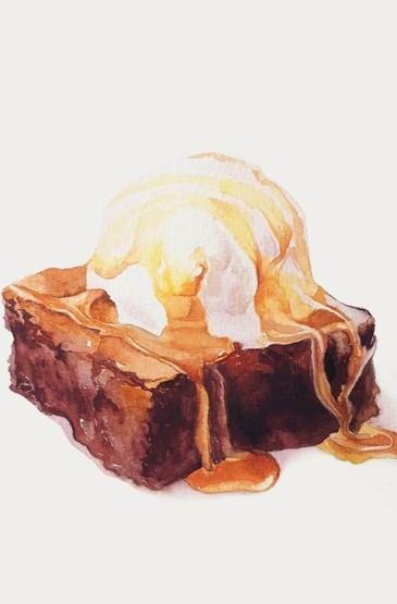 <甜品美食手绘安卓壁纸