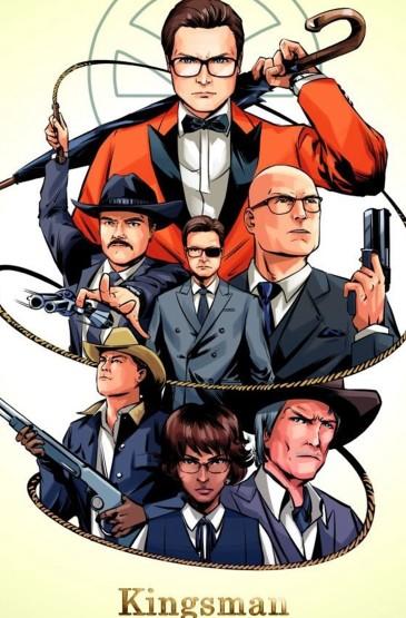 美国电影《王牌特工2》动漫形象图片