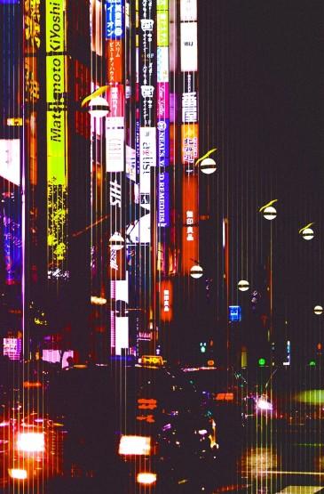 <唯美濾鏡城市夜景手機壁紙圖片