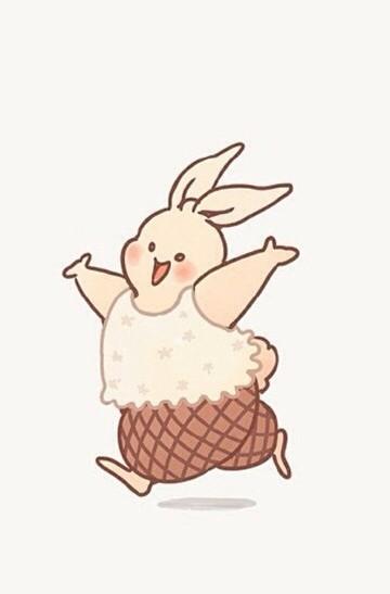 可愛卡通兔子手機桌面壁