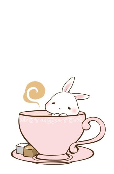 超萌可爱卡通兔子苹果手机壁纸