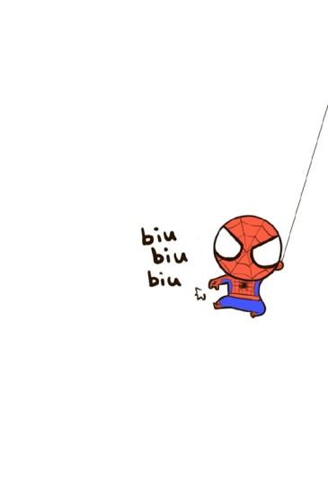 超萌小蜘蛛侠手机锁屏壁纸