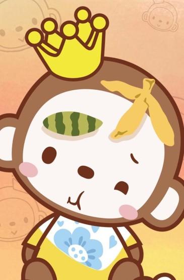 <可爱卡通猴子安卓壁纸