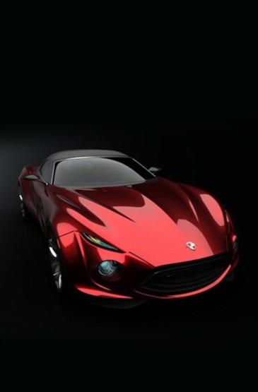 高调红色跑车iPhone壁纸图片