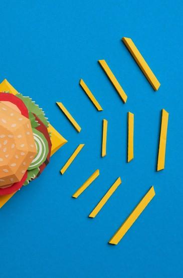 <创意菱角美食设计手机壁纸图片